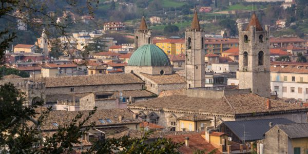 Veduta del centro storico di Ascoli Piceno