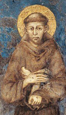 Ritratto di San Francesco del Cimabue - Particolare